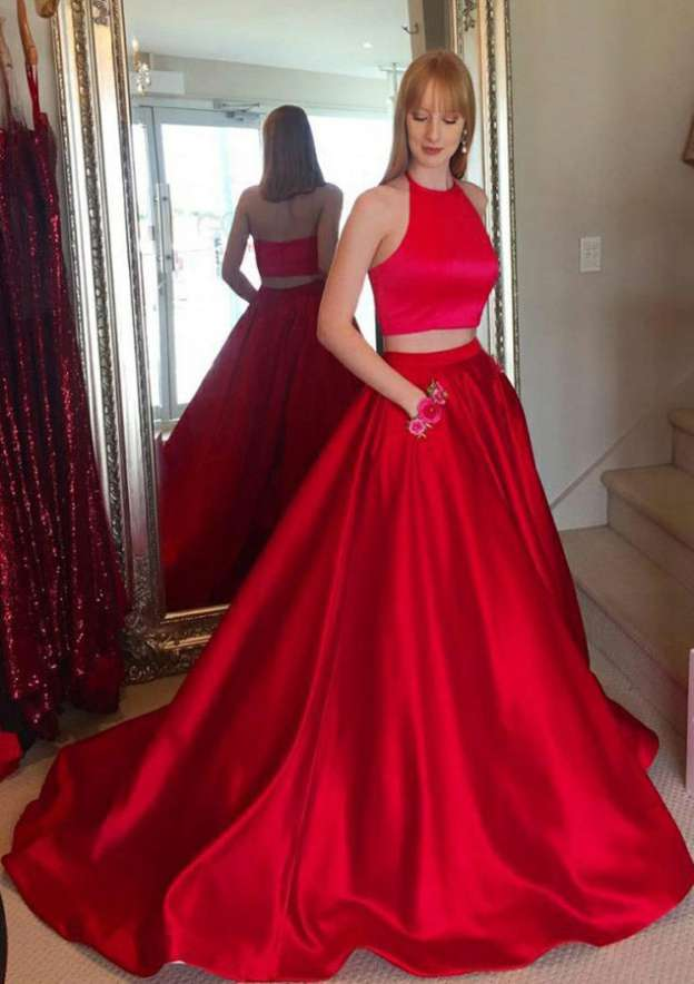 Two Piece Prom Dresses Stacees Exquisite Designs